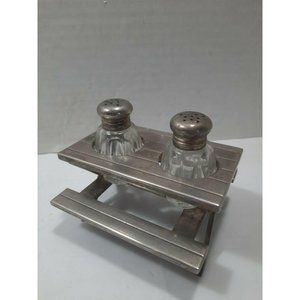 Vintage Picnic Table Salt and Pepper Shakers Set